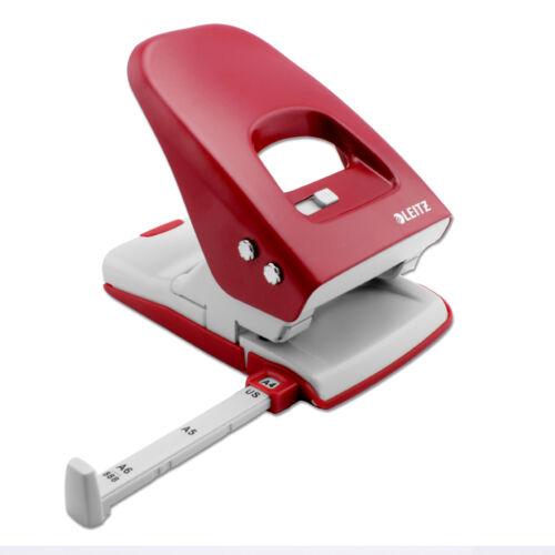 Locher Bürolocher LEITZ 5138 Metall extra stark locht 40 Seiten rot blau schwarz