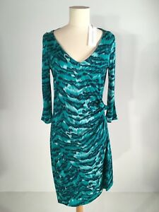 Women's Diane Von Furstenberg 3/4 Length Sleeve Faux Wrap dress, size 10