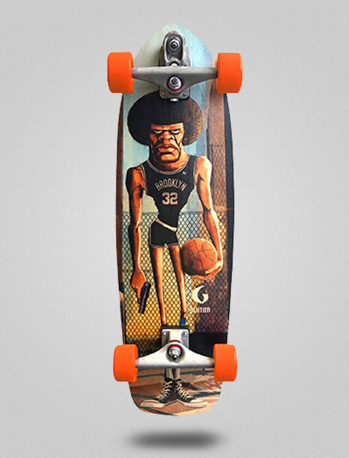 Surf skate GLUTIER with with with T12 TRUCKS. Surfskate Mamalote 34 2fc515
