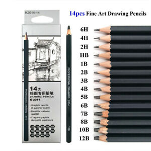 14pcs-Professional-Sketching-Drawing-Set-Arts-Pencil-Kits-Artists-Art-Supplies