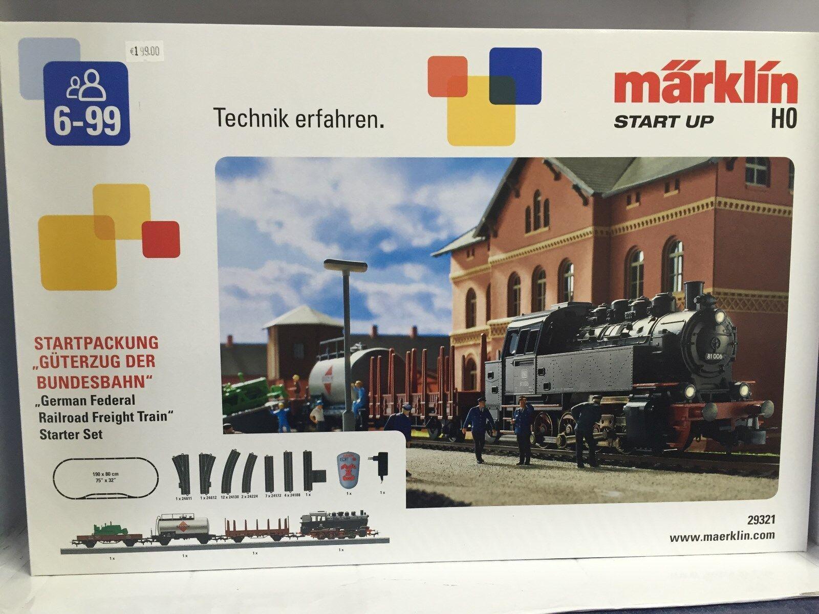 +++ Märklin Confezione iniziale  treno merci delle Ferrovie Federali.  230 VOLT. h0 29321
