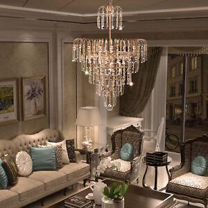 Captivating Image Is Loading Elegant Crystal Decoration Chandelier  Luxury Fixture Pendant Ceiling