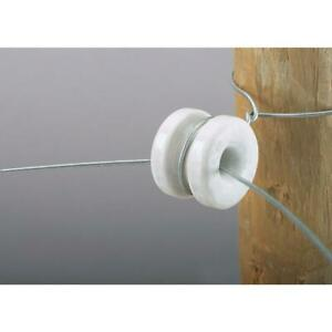 10-Pack Dare Donut White Polyethylene Electric Fence Insulator 1388-10 1