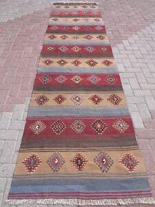 Image Is Loading Vintage Turkish Kilim Rug Runner Hallwayrug 36 6
