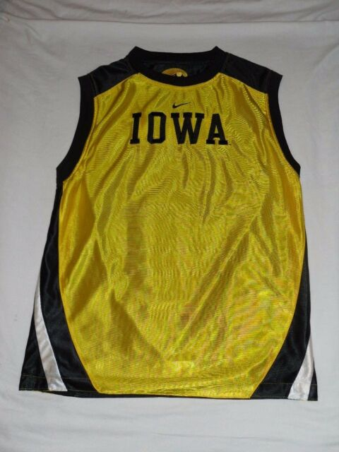 2df2ec1b8ff2 Vintage Nike Iowa University Hawkeyes Basketball Jersey Reversible Youth  Large