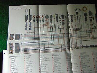 2002-2005 Mercury Outboard 115 EFI 4-Stroke Engine Harness Wiring Diagram  2004 | eBayeBay