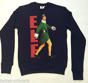 Primark Mens Elf The Movie Will Ferrell Christmas Jumper Sweater Top