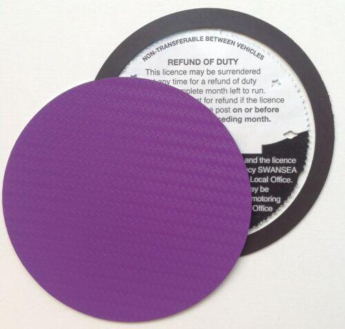 magnetic tax disc holder PURPLE carbon fibre Fit lamborghini lancia mk ka fiesta