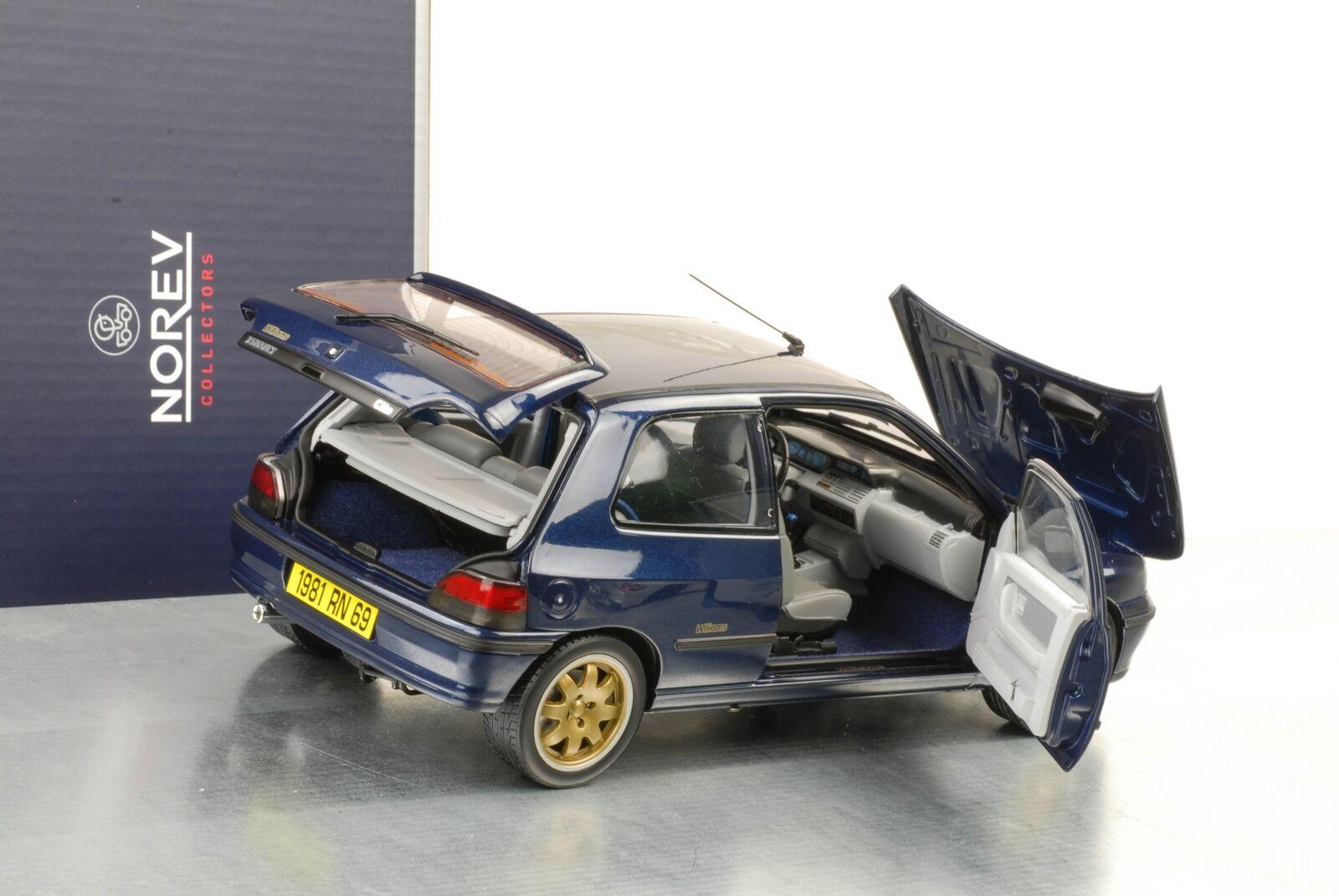 1994 Renault Clio Williams fase i Blu Mettuttiizzato modellololo di auto 1 18 NOREV 185230