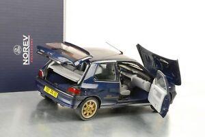 1994-Renault-Clio-Williams-Phase-I-blau-metallic-Modellauto-1-18-Norev-185230
