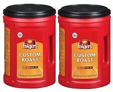 Folgers Custom Roast Ground Coffee 48 Oz Robust Taste Mild Roast Pack Of 2
