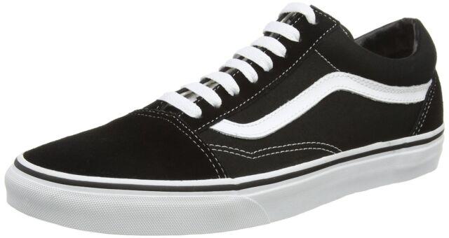 1dd7caf0ec8c0 Vans Old Skool Unisex Adults' Low-Top Trainers Black/White