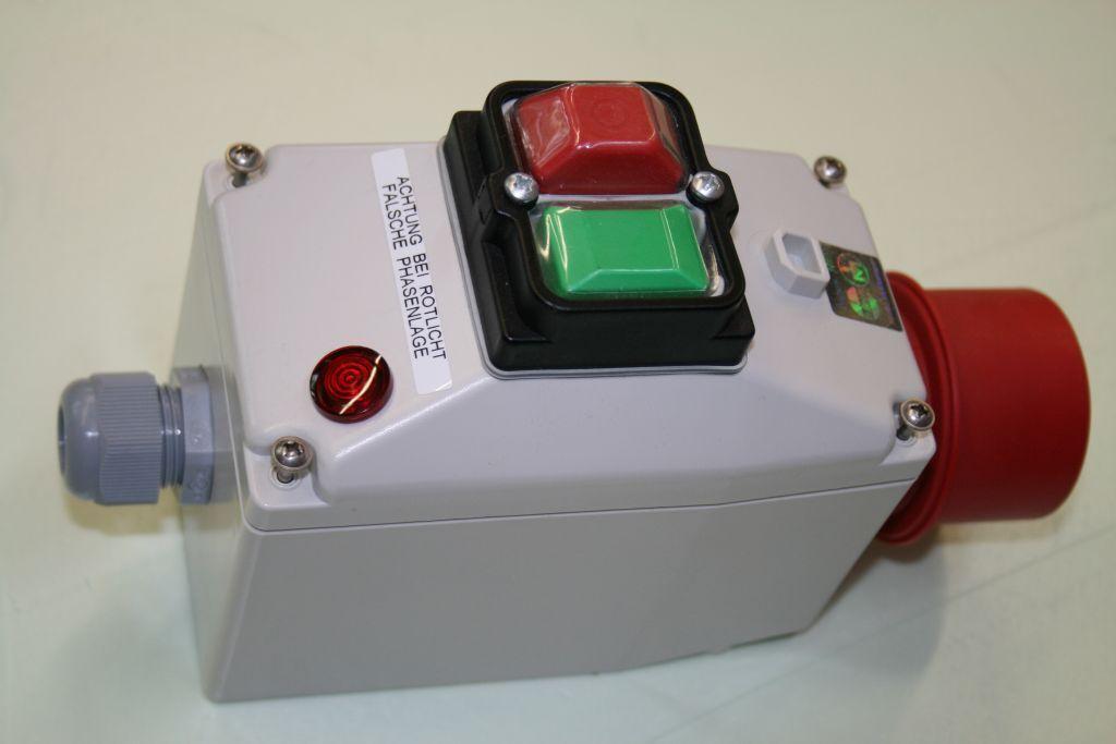 Motorschalter 0,12-018 KW, Motorschutz 0,4-0,63 A, Drehfeldanzeige, 5x16A CEE