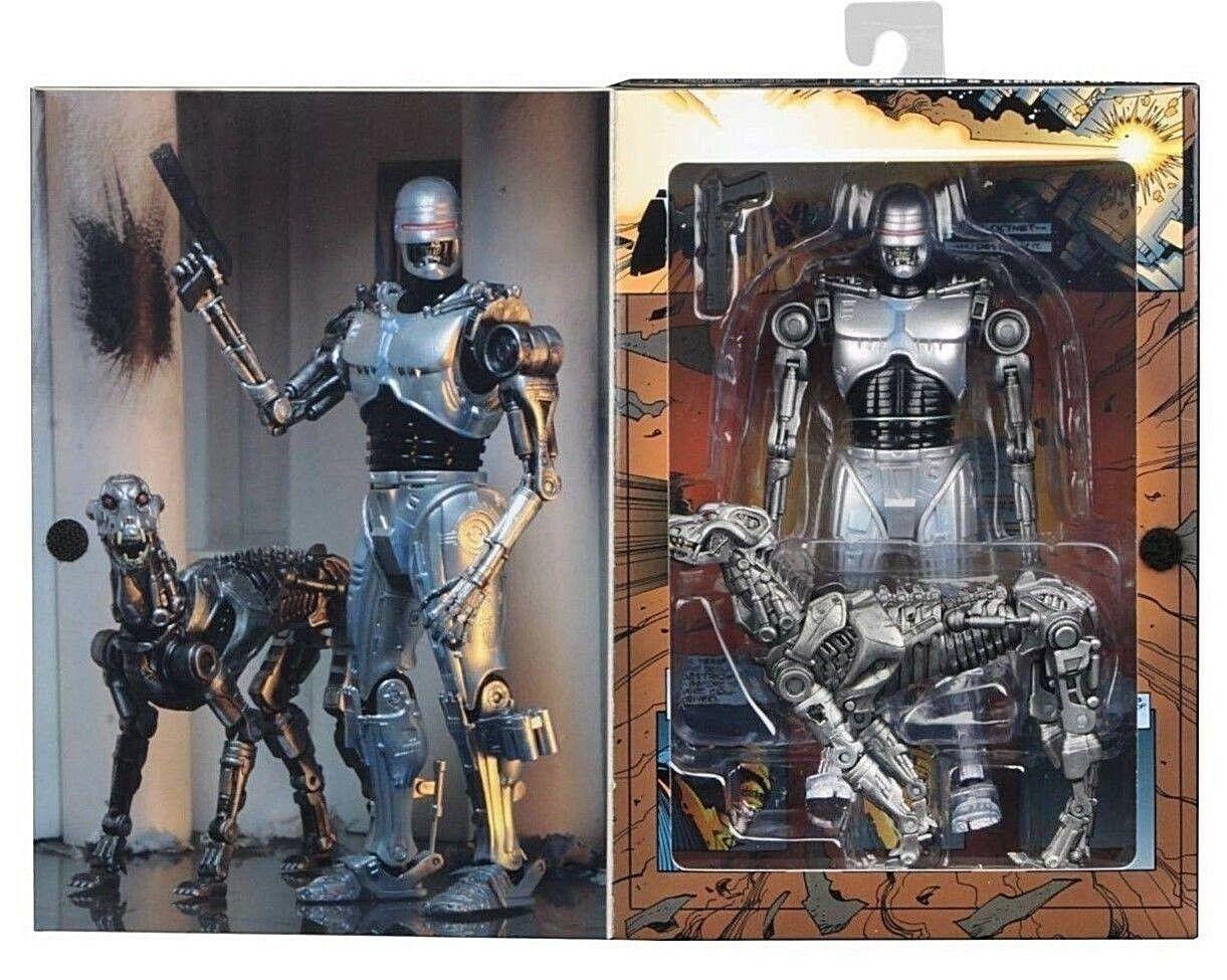 Robocop vs Terminator Action Figure EndoCop e Terminator Dog Neca