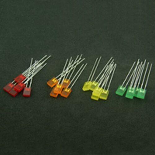 20 Piezas Rectangular Led Pack Colores Variados