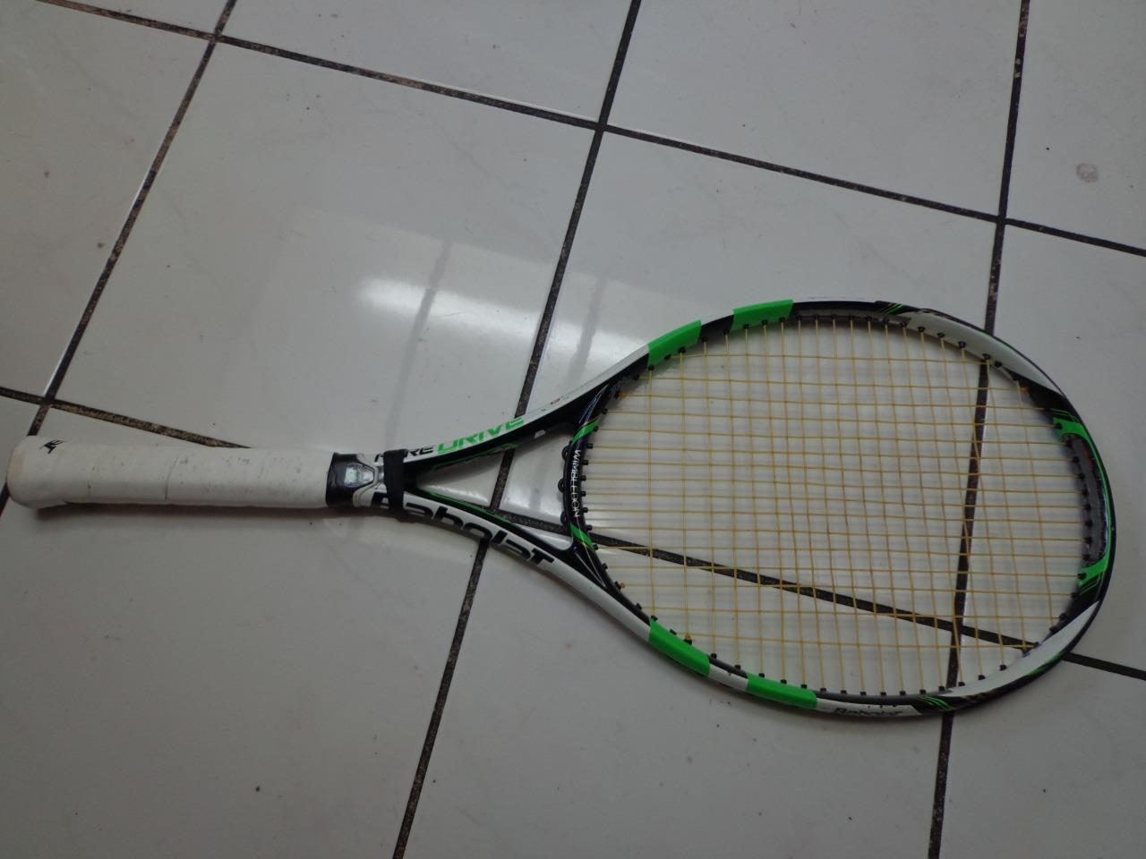Babolat Pure Drive Wimbledon versión 100 cabeza 4 3 8 Grip Tenis Raqueta