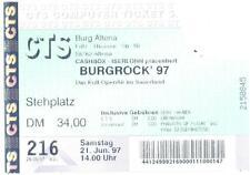 Burgrock ´97 - Alte Eintrittskarte Ticket vom 21.06.1997 - Schönes Sammlerstück