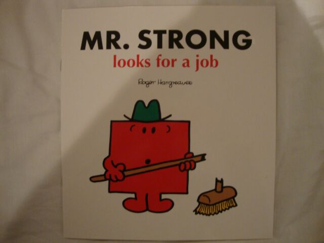 Mr Men Book - Mr Strong Looks For A Job - Brand New RRP £5.99