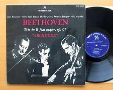 WH 20039 Beethoven Archduke Trio Fournier Badura-Skoda Janigro Whitehall Mono LP