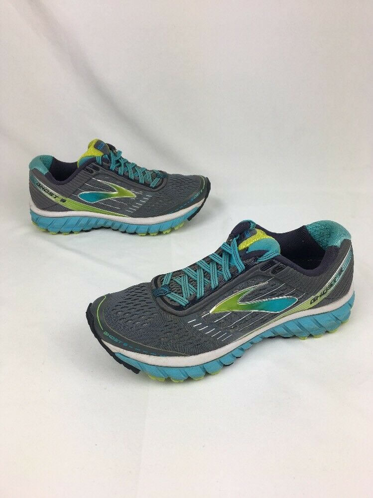 Brooks Ghost 9 Women's Running Shoes Sz 7 B 1202251B151 Gray Blue Atoll
