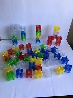 Construction Stacking Tiles Large LIVEHITOP 116 PCS Magnetic Building Blocks