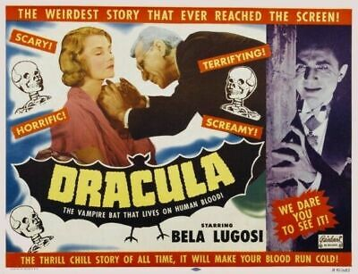 Horror of Dracula Vintage Classic Movie Large Poster Art Print Maxi A1 A2 A3 A4