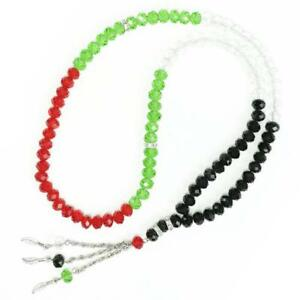 Black-Green-Red-amp-Palestine-Crystal-Tasbeeh-99-33-beed-tasbih-islamic-ornament