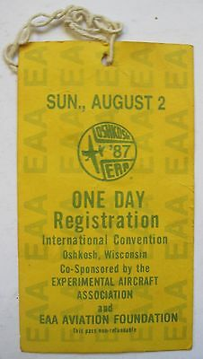1987 35th EAA Sport Aviation Experiment Aircraft Convention Oshkosh Ticket Stub