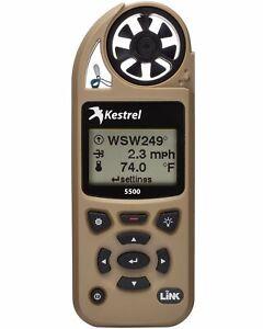 Kestrel-5500-Pocket-Weather-Meter-with-Link-and-Vane-Mount-Tan
