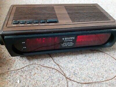 Vintage Rare Retro Binatone Digitron, Retro Radio Alarm Clock