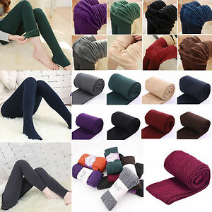 8900a2739 Image is loading Womens-Thick-Warm-Winter-Stockings-Socks-Ladies-Stretch-