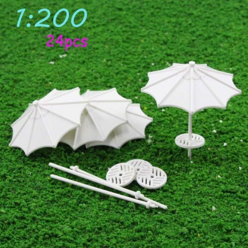 TYS03200 24pcs DIY parasol Model Train Railway Vertical Common Gifts 1:200 Z New