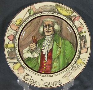 The-Squire-D6284-Collector-Plate-The-Professionals-Royal-Doulton-Series-Ware