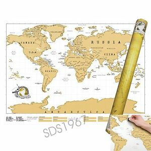Large scratch off world map poster personalized travel vacation image is loading large scratch off world map poster personalized travel gumiabroncs