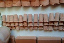 100 tegole 5x10mm coppo terracotta minuterie presepe miniature animal crib