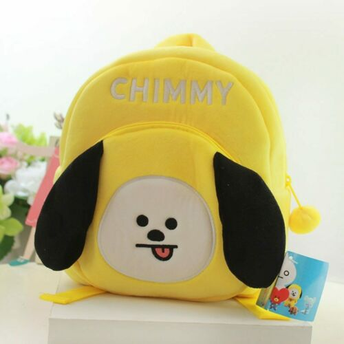 HOT BT21 School Bags For Boys Girls BTS Koya Cooky Cute Soft Plush Backpacks