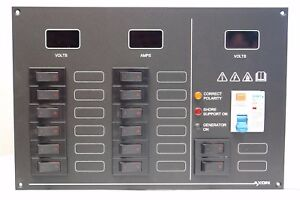 14-Way-AC-DC-Switchable-Carling-tech-circuit-breaker-panel-with-meters-amp-RCD
