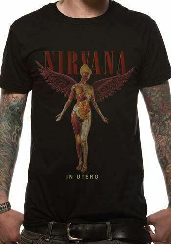 Nirvana T Shirt In Utero Officially Licensed Mens Black Tee Kurt Cobain Grohl