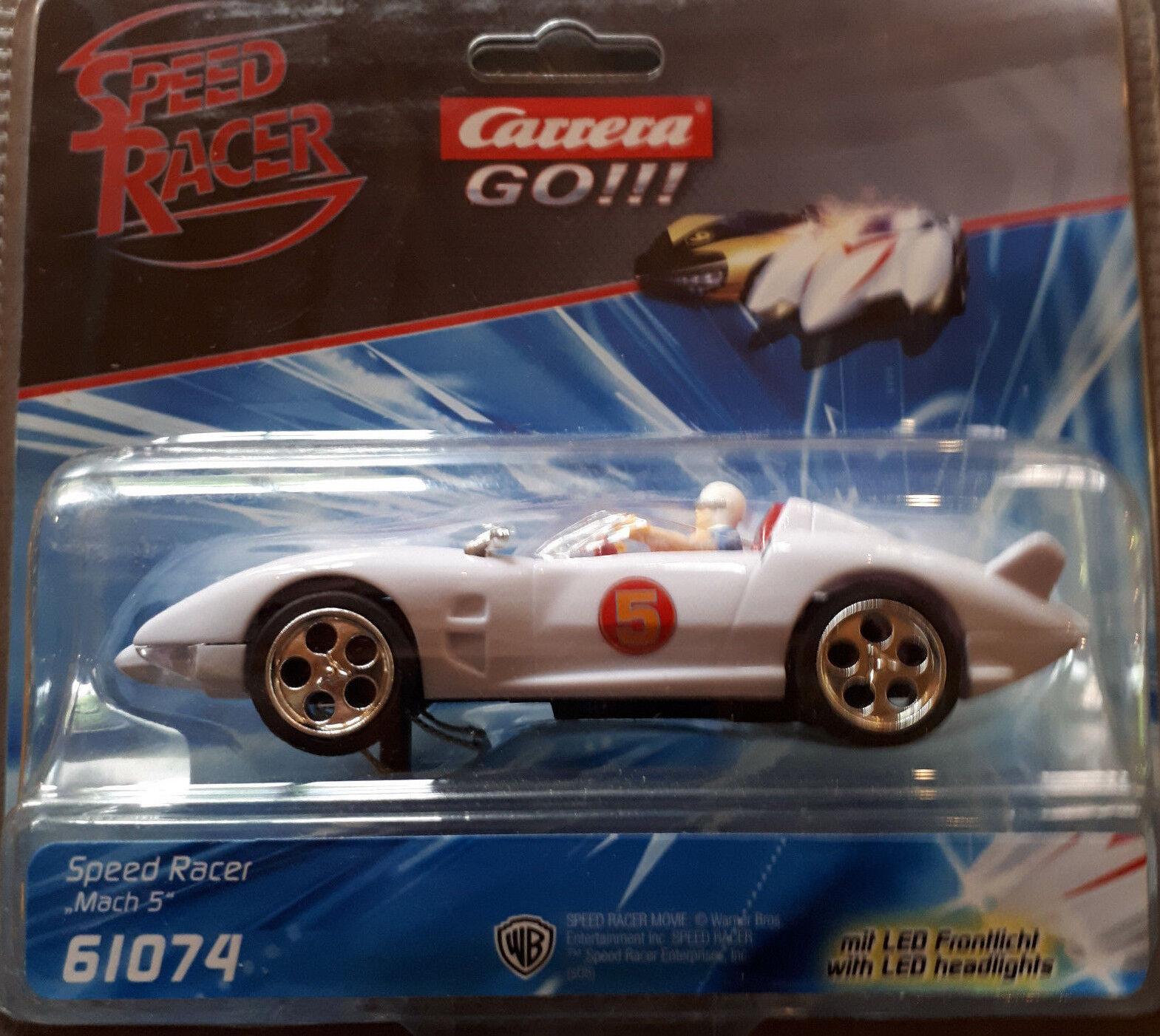 Carrera GO 61074 Speed Racer     Mach 5   (mit Frontlicht) Rennbahn Auto Neu OVP 03e0ca