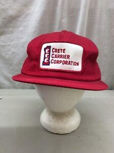 Details About Trucker Hat Baseball Cap Vintage Snapback Patch Crete Carrier Corporation 1 Ccc