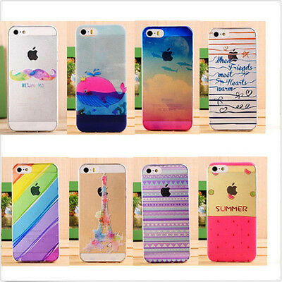 Ultra thin Cute Pattern Painted Hard Back Skin Case Cover For iPhone5S 6 6 Plus