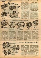 1960 PAPER AD Alcedo Ambassadeur 50000 South Bend Shakespeare 303 Fishing Reel