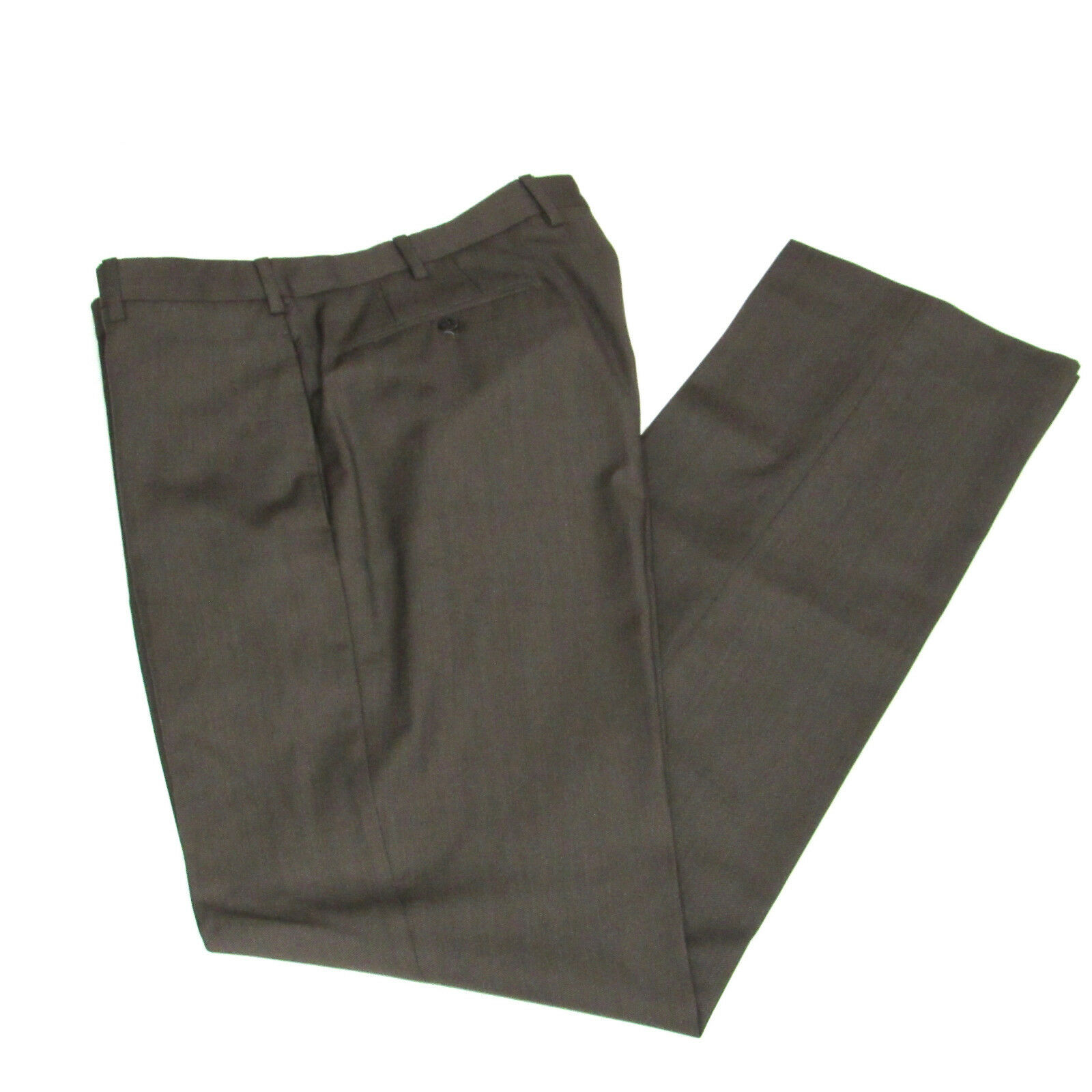 Incotex Mens Super 100's Dress Pants Size 34 Wool Brown