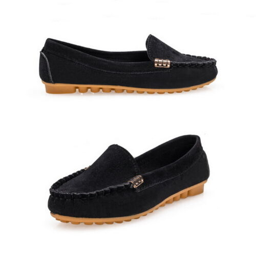 Womens Comfort Moccasin Ballerina Ballet Pumps Ladies Flat Loafers Slip On Shoes