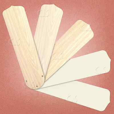 """Replacement Blades for 52"""" Ceiling Fan Washed Oak / Textured Ivory 5/pk _236-B67"""