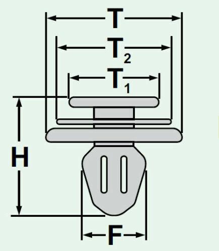 Zierleisten Stoßleisten Befestigung Clip Für Peugeot 106 206 306 307 806 Expert