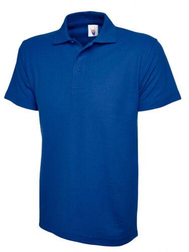 Uneek Classic Pique Poloshirt Unisex XS 6XL 17 Colours 220gsm Work Polo Shirt