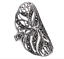 Long Oval All Marcasite Stone Ring Genuine Sterling Silver.925 Sizes 6 To 9