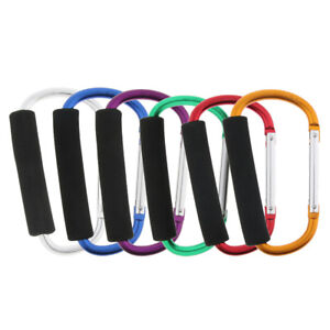 6x Aluminum Carabiner Heavy-duty Spring Snap Hook Keyring Cushion Grip 12mm
