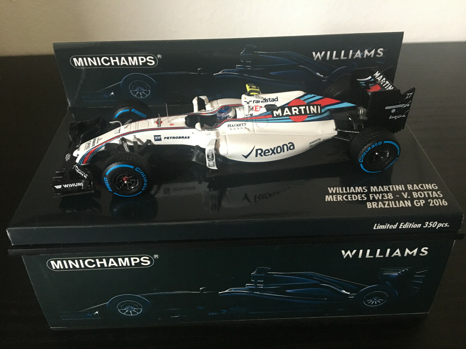 1 43 Williams Martini Racing Mercedes FW38 -  77 V. Bottas (2016)
